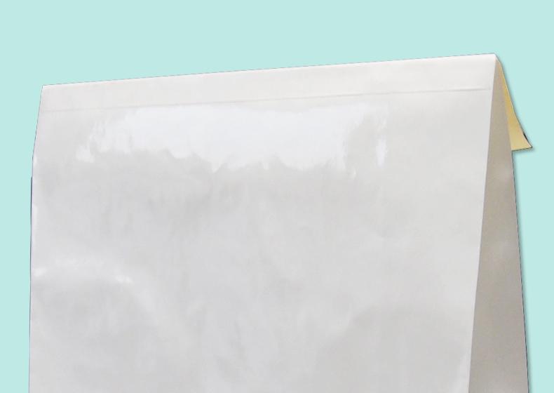 紙袋の内側がフラット