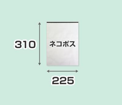 2重フィルム宅配ビニール袋 ネコポスサイズ