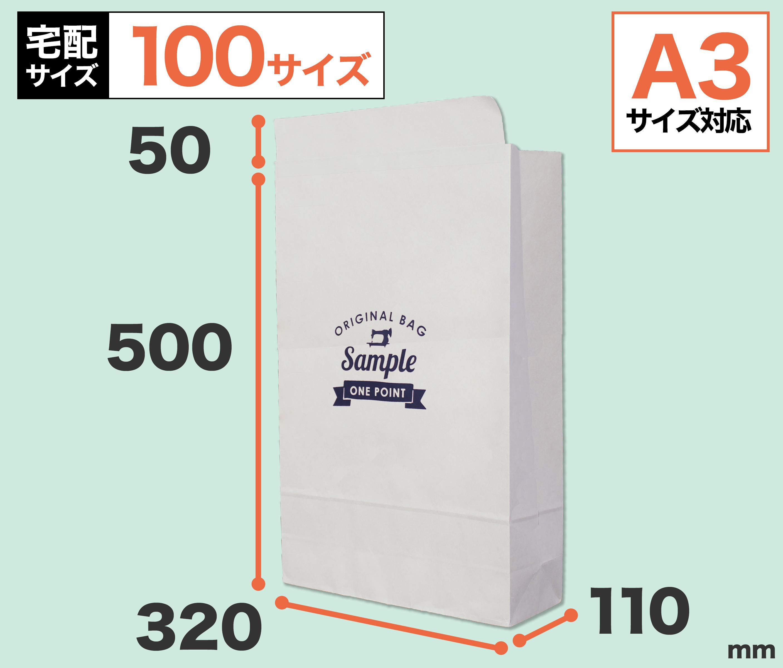 ワンポイント宅配紙袋(片艶晒クラフト)Lサイズ:のメイン画像