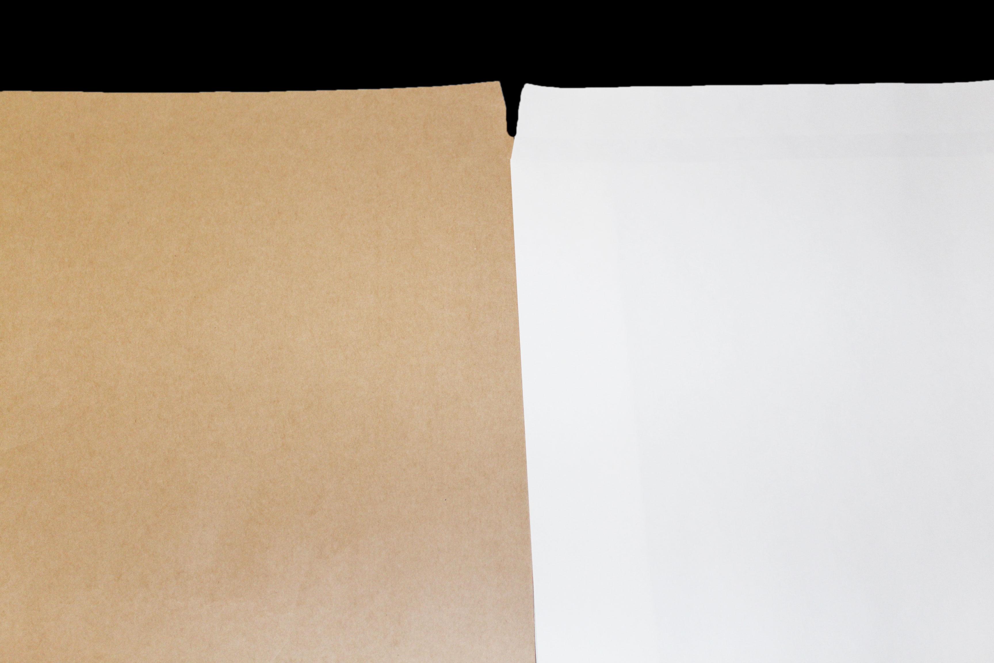宅配袋は晒クラフトか茶色クラフト紙をお選びください